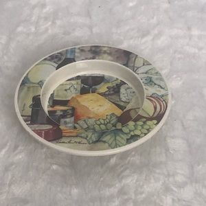 Kathleen Parr McKenna Ceramic Wine Coaster Cheese